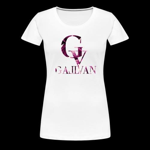 Gallvan Logo T-Shirt Bianco Purple Woman - Frauen Premium T-Shirt