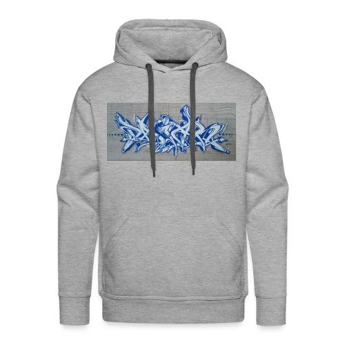 Daiar Blue White  - Männer Premium Hoodie