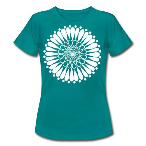 White Sunflower Mandala - Women's T-Shirt
