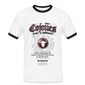 Only Cojones Make A Difference - Männer Kontrast-T-Shirt