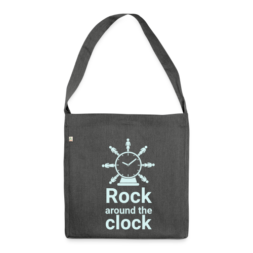 Schultertasche Rock around the Clock - Schultertasche aus Recycling-Material
