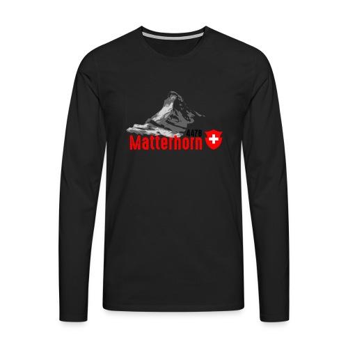 Matterhorn - T-shirt manches longues Premium Homme