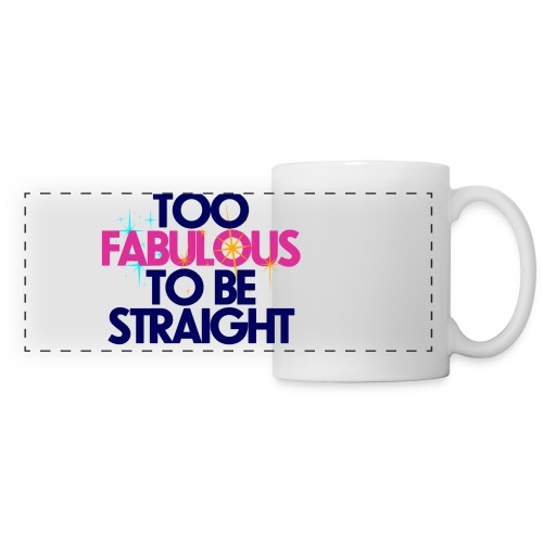 Panoramic Mug - too,to,tea,straight,love,lgbt,is love,hug,gay,fabulous,coffee,be