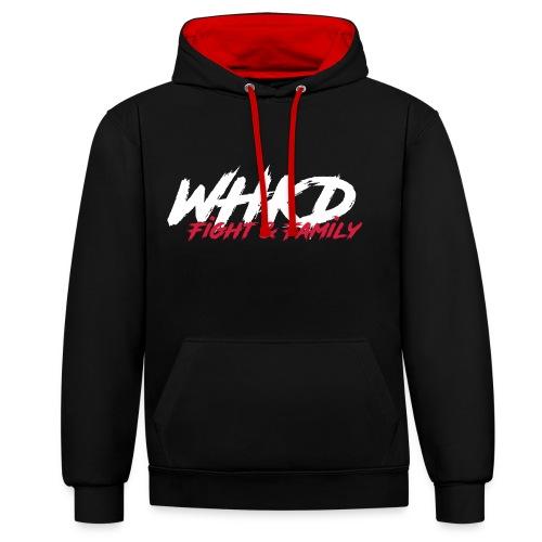 WHKD.net (Hoody) - Kontrast-Hoodie