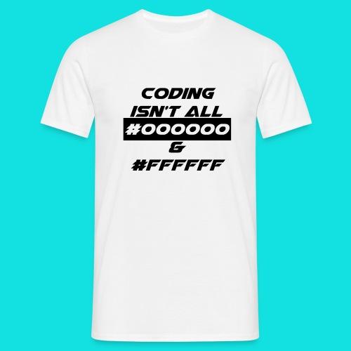 HTML White T - Men's T-Shirt
