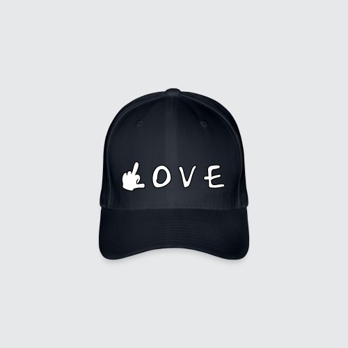 love - Flexfit Baseballkappe