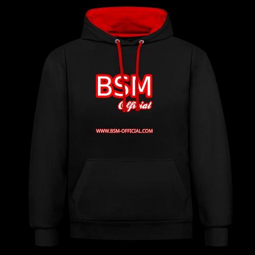 BSM (Official) Hoodie - Contrast Colour Hoodie