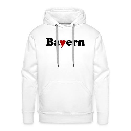 Bayern mit Herz - Männer Premium Hoodie