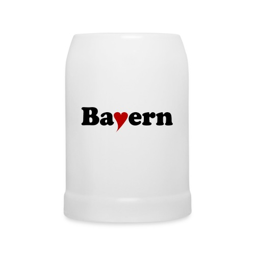 Bayern mit Herz - Bierkrug