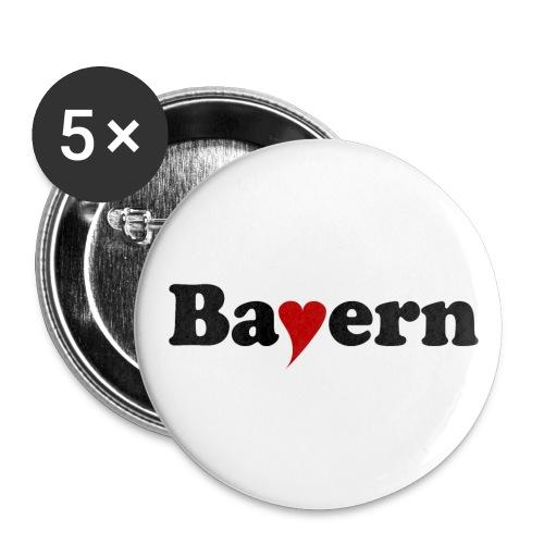 Bayern mit Herz - Buttons mittel 32 mm
