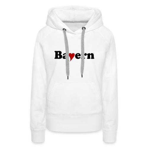 Bayern mit Herz - Frauen Premium Hoodie