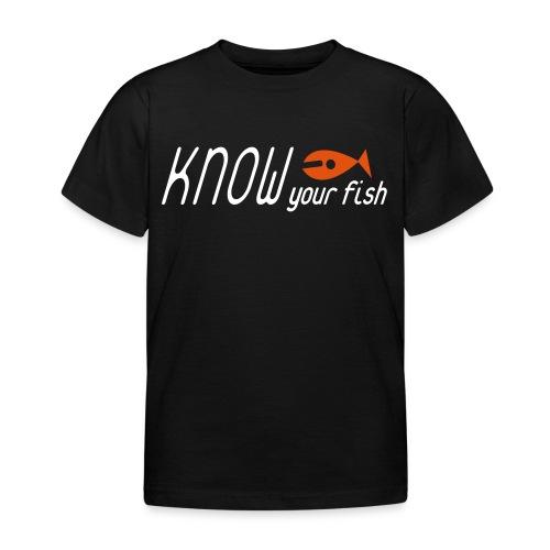 KYF Børne T-shirt 3 - 8 år Sort - Børne-T-shirt