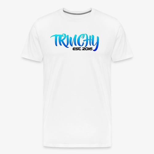 Trinchy Blue Text T-Shirt - Men's Premium T-Shirt
