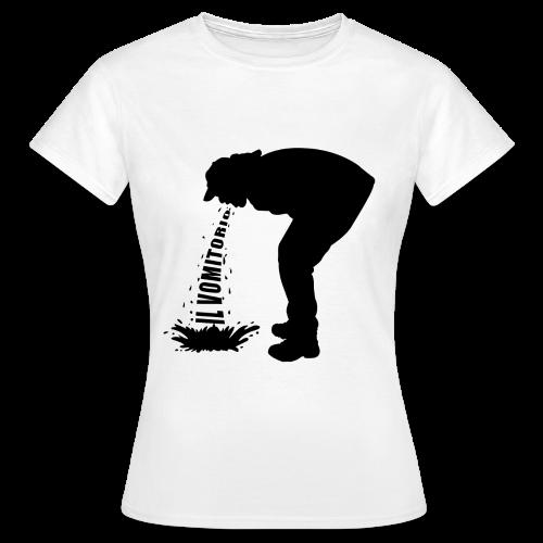 T-Shirt logo vomito nero modello da donna - Maglietta da donna