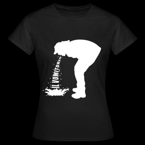 T-Shirt logo vomito bianco modello da donna - Maglietta da donna