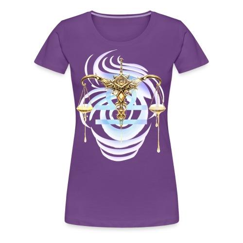 T-shirt with astrological design Libra - Women's Premium T-Shirt