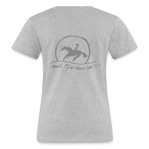 Back: Sunset Rider - Ton in Ton - Bio Shirt for Ladys (Print: Silver Glitter) - Frauen Bio-T-Shirt