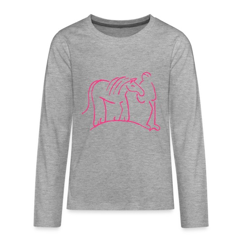Walking Together - TEEN Longsleeve (Print: Neon Pink) - Teenager Premium Langarmshirt
