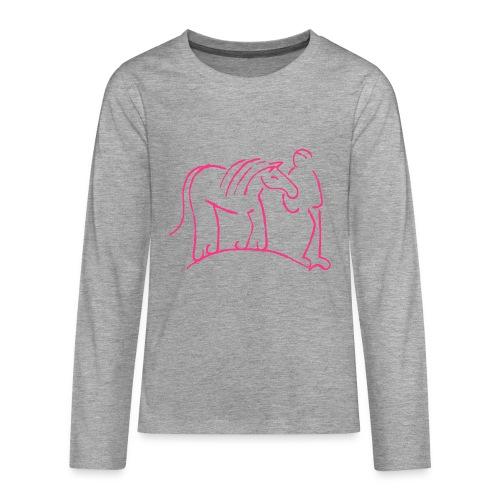 Walking Together - TEEN Longsleeve (Print: Neon Pink) - Teenager Premium Langarmshirt