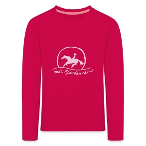 Sunset Rider - KIDS Longsleeve Rose on Pink(Print: Rose -digital) - Kinder Premium Langarmshirt