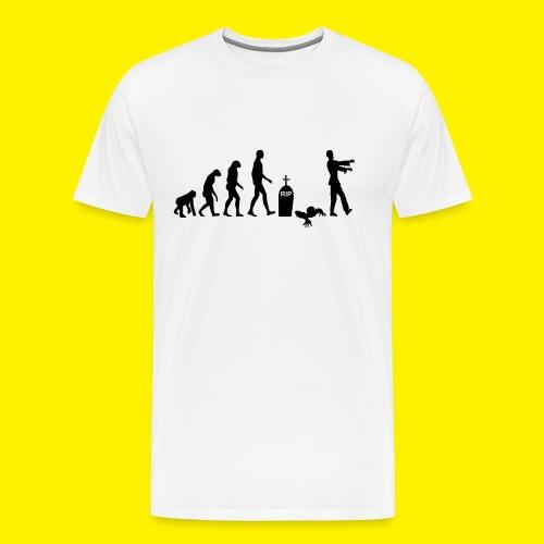 Evolution of zombies - Men's Premium T-Shirt