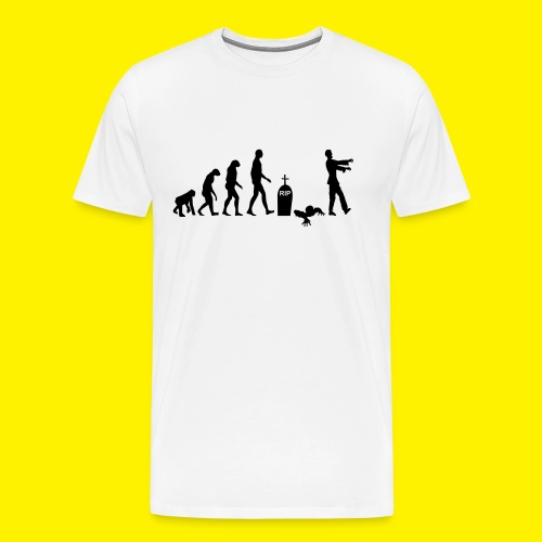 Evolution of zombies - Men's Premium T-Shirt