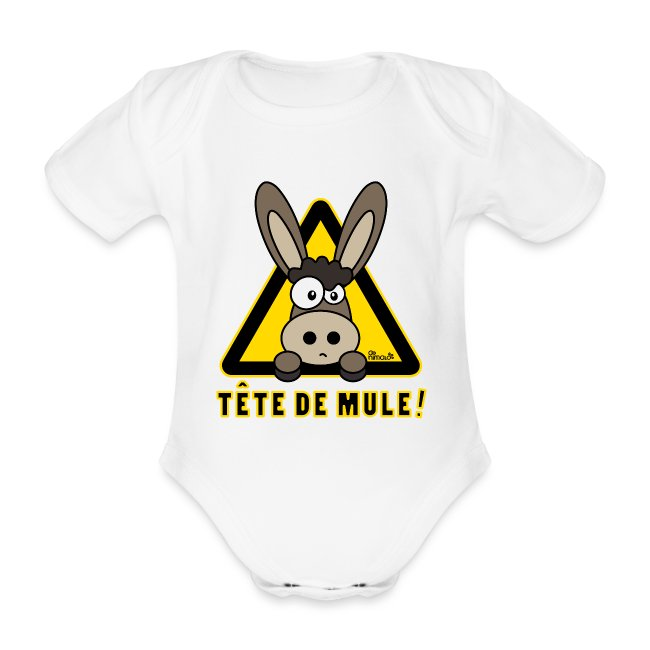 Body Bébé Âne, Tête de Mule