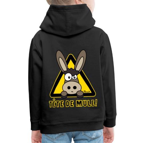 Sweat-shirt Enfant Âne, Tête de Mule dos - Pull à capuche Premium Enfant