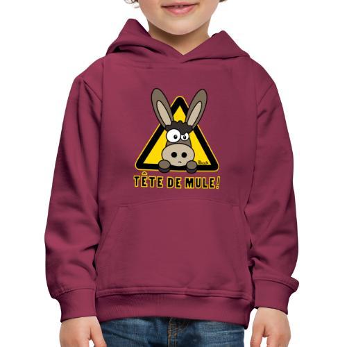 Sweat-shirt Enfant Âne, Tête de Mule - Pull à capuche Premium Enfant