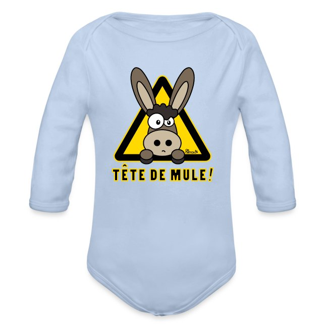 Body ml Bébé Âne, Tête de Mule