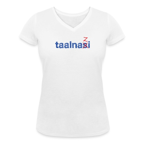 Taalnasi vrouwen v-hals bio - Vrouwen bio T-shirt met V-hals van Stanley & Stella