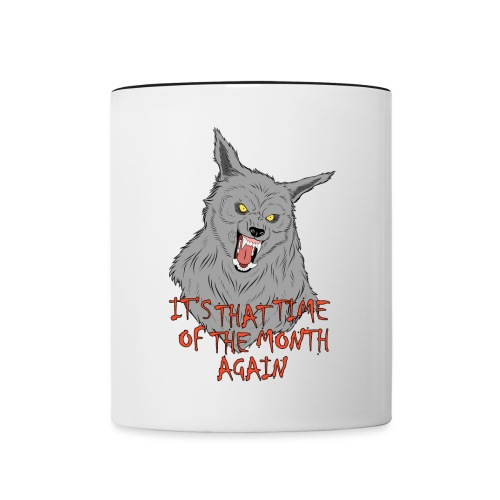 That Time of the Month - Contrasting Mug 2 - Kubek dwukolorowy