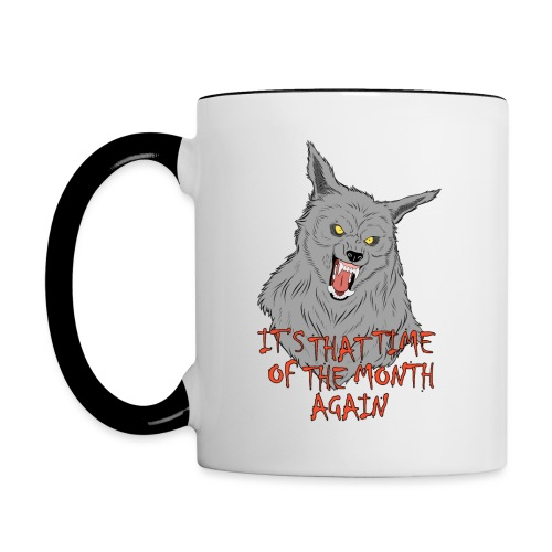 That Time of the Month - Contrasting Mug 3 - Kubek dwukolorowy