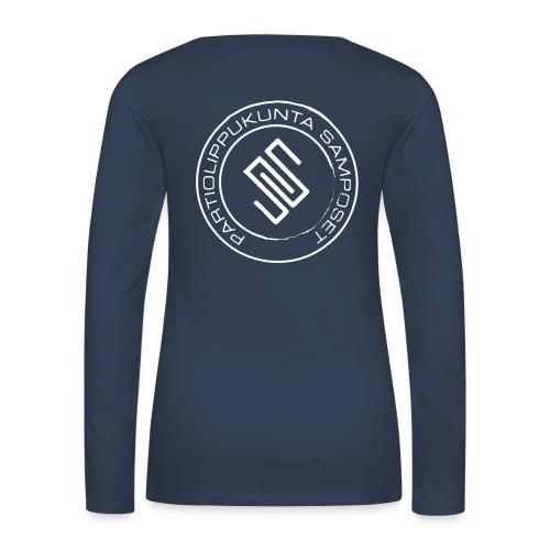 Naisten sininen, pitkähihainen paita - Naisten premium pitkähihainen t-paita