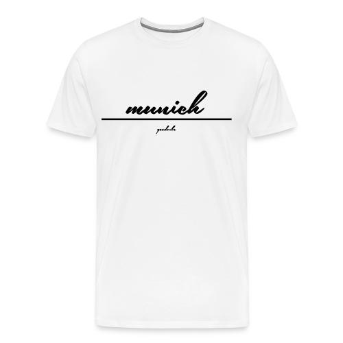 Männer Premium T-Shirt - munich. white edition by goodvibe.
