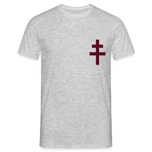 Croix de Lorraine marron coté coeur (11 coloris) - T-shirt Homme