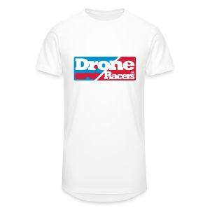 Extra lang shirt met Logo op de borst - Mannen Urban longshirt