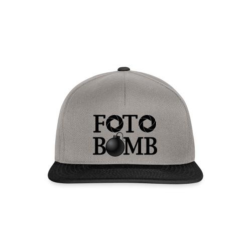 Foto Bomb Hat - Black Logo - Snapback Cap