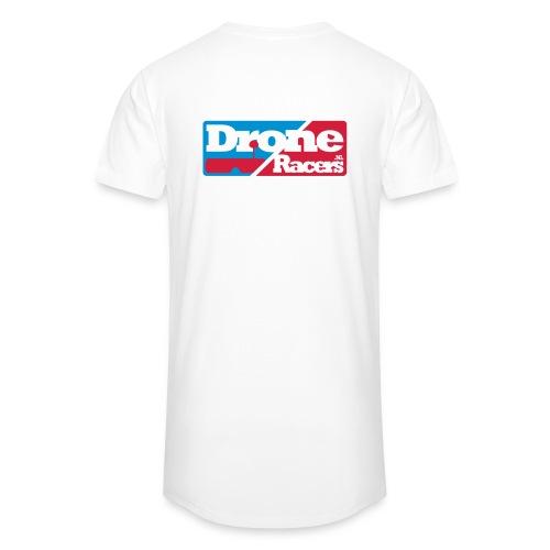 Extra lang shirt met Logo op de rug - Mannen Urban longshirt