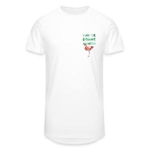 T-shirt long pour homme CHU DE BONNE HUMEUR - T-shirt long Homme