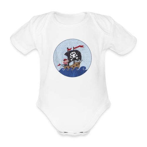 Kurzarm-Body mit Pirat - Baby Bio-Kurzarm-Body