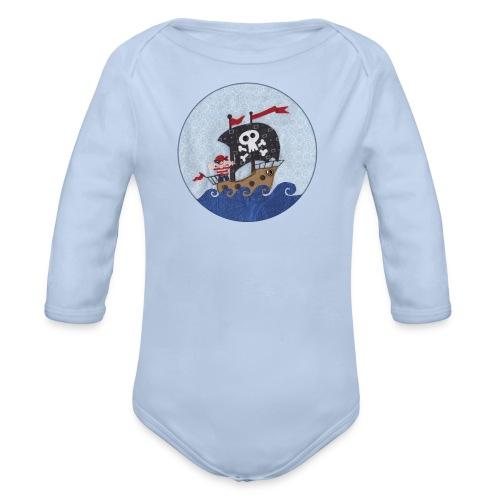 Langarm-Body mit Pirat - Baby Bio-Langarm-Body