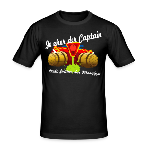 Party Captain - Männer T-Shirt (Slim Fit) in schwarz - Männer Slim Fit T-Shirt