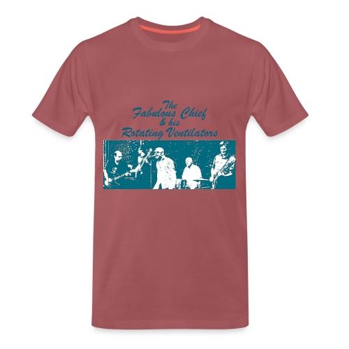 Kärwakonzertshirt - Türkis auf dunkelrot - Männer Premium T-Shirt
