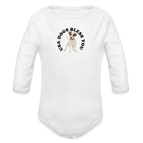 Body manches longues Bébé USA Dogs Bless You - Organic Longsleeve Baby Bodysuit