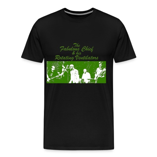 Kärwakonzertshirt - Grün auf schwarz - Männer Premium T-Shirt