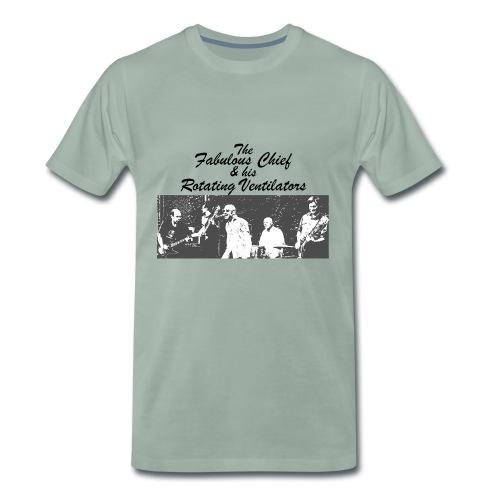 Kärwakonzertshirt - Schwadds/Grau aufso ganz komisch blassgrün - Männer Premium T-Shirt