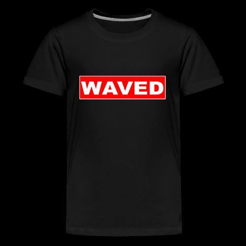 Unisex Teenagers Waved Box Logo tee - Teenage Premium T-Shirt
