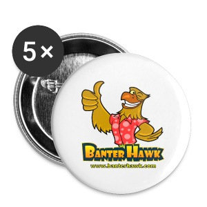 Banter Hawk Logo Badges - Buttons medium 32 mm