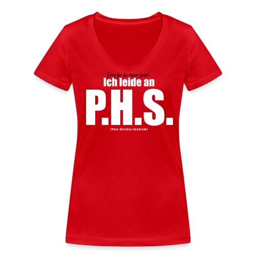 Post-Holiday-Syndrom Frauen-Shirt  - Frauen Bio-T-Shirt mit V-Ausschnitt von Stanley & Stella